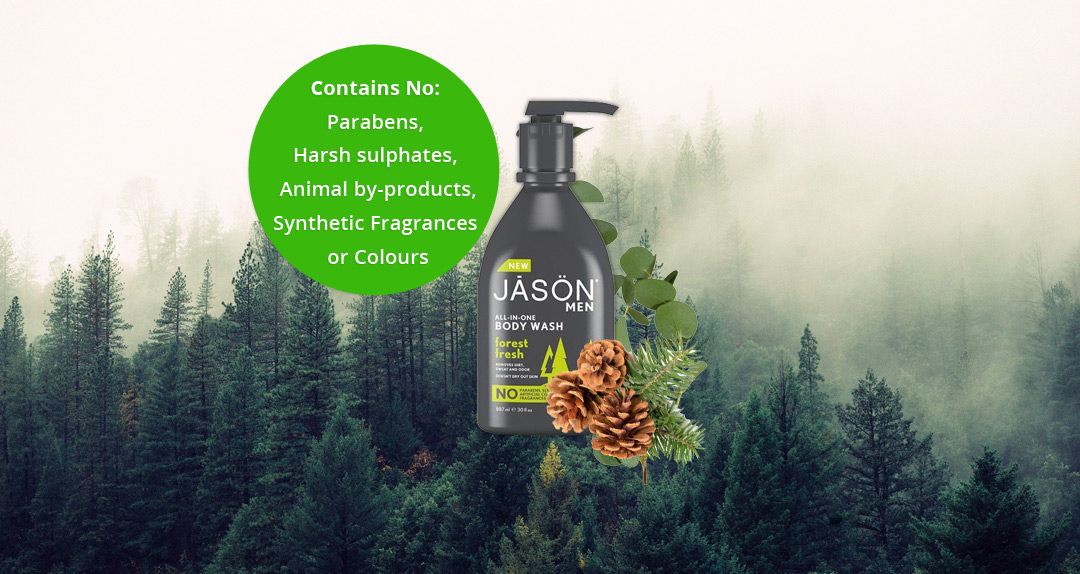 JĀSÖN Men's all-in-one 'Forest Fresh' Body Wash.
