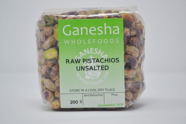 Raw Unsalted Pistachios 200g