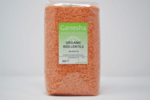 Organic Red Lentils 1kg