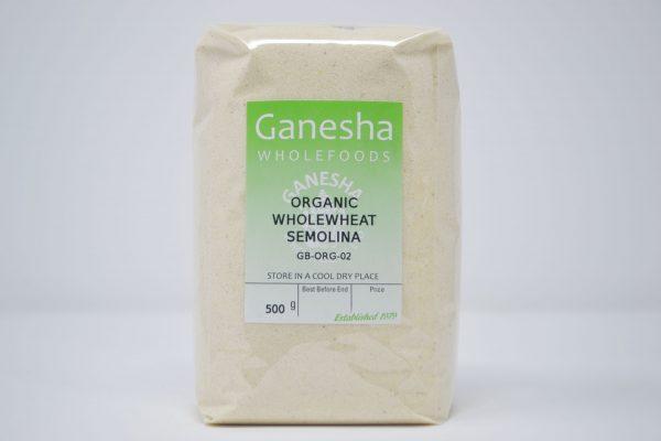 Organic Wholewheat Semoline 500g