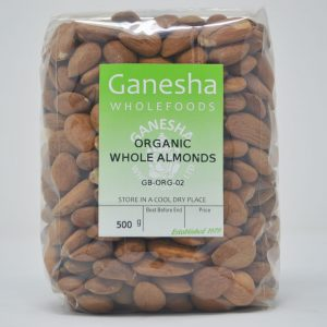 Organic Whole Almonds 500g
