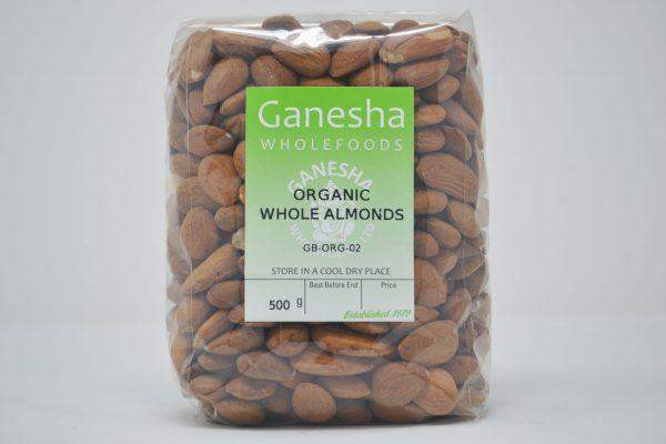 Organic Whole Almonds 500g