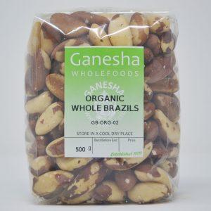 Organic Whole Brazil Nuts 500g
