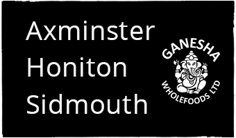 Ganesha Wholefoods Shops Axminster Honiton and Sidmouth